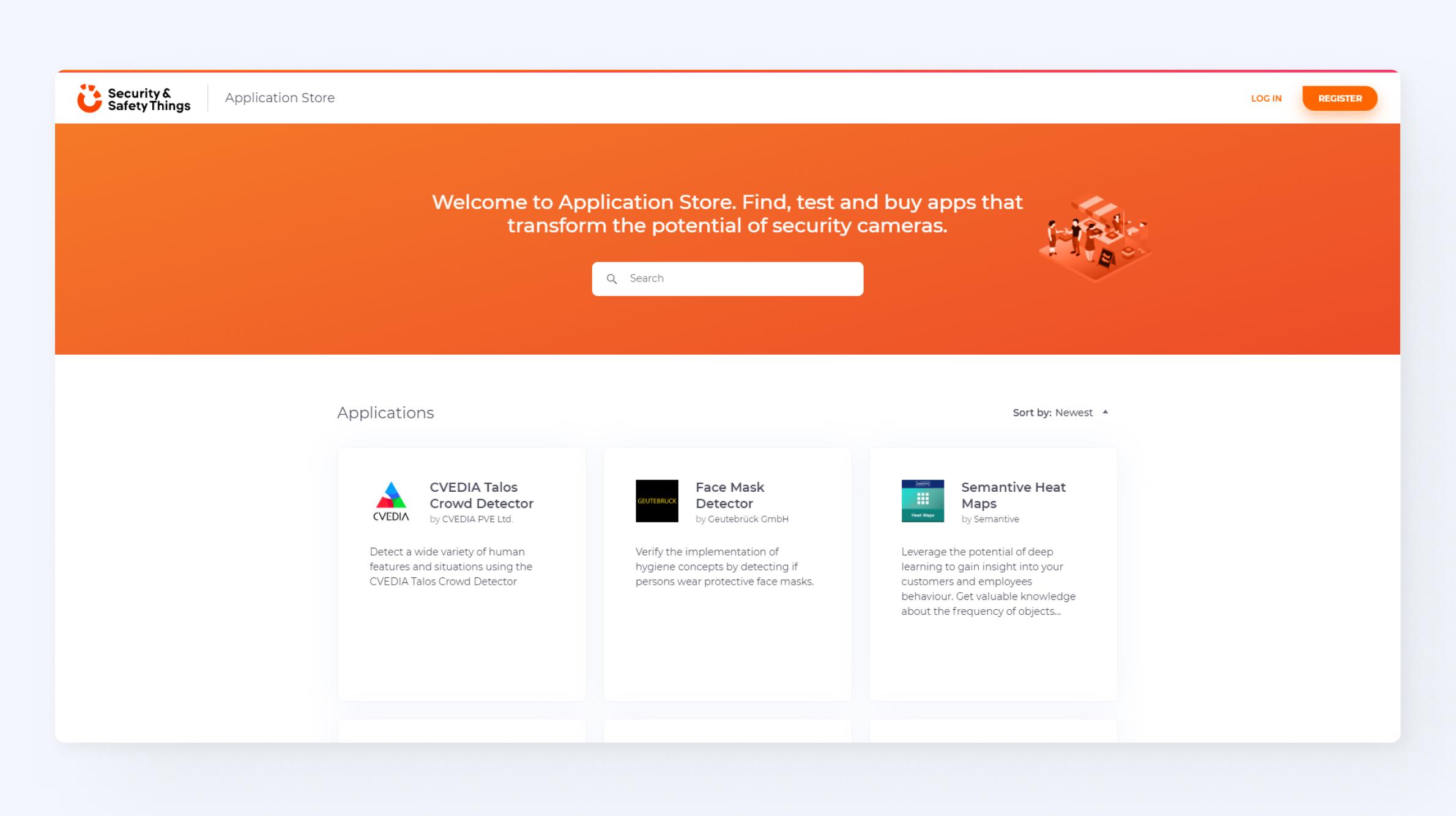 Screenshot Application Store