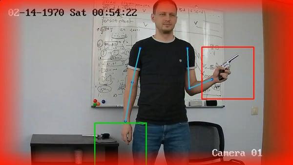 Gun detection image
